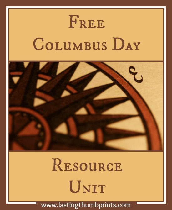 Free Columbus Day Resource Unit - Free printables, unit studies, crafts, videos, & more!