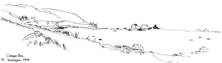 Clonque Bay, Alderney island, 1997 Sketch by Harry Papaioannou