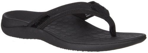 Orthaheel Women's Tide Thong Sandals (8, Black)