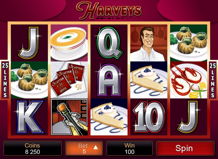 You are a log in away from tasting a delicious win on Harveys video #slot