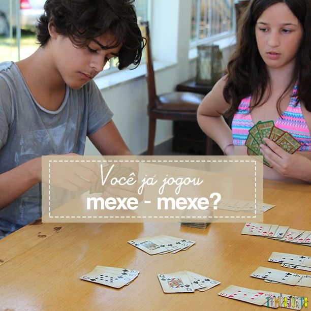 Conheça Mexe-mexe, um jeito diferente de jogar buraco. Mais uma ótima dica de jogo de cartas para toda a família.