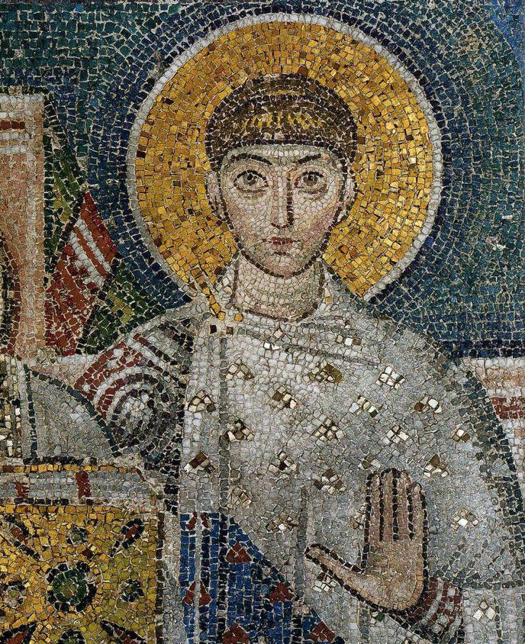 Basilica di San Demetrio, Tessalonica, Grecia. Il mosaico del VII secolo.