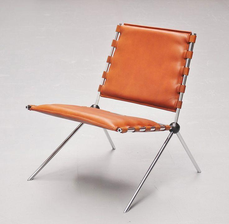 Paul Schneider-Esleben, chair PSE 58, designed for the Mannesmann Hochhaus in Düsseldorf, 1958/59. Made by Kauffeld, Germany. Source