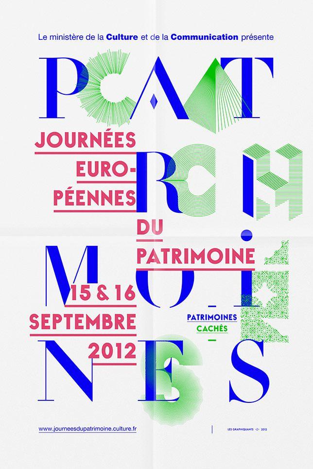 Min. de la culture et de la communication - Affiche JEP 2012 - Les Graphiquants -