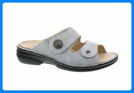 Finn Comfort, 2550-432364, Sansibar Pantolette Damen, Größe 40, Grau/grau - Zehentrenner für frauen (*Partner-Link)