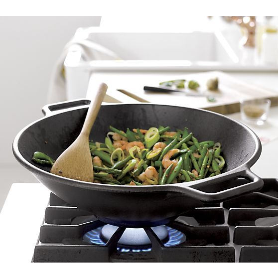 Lodge® Cast Iron Wok | Crate and Barrel