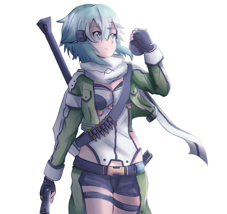 Sinon - Gun Gale Online by Pikarty10.deviantart.com on @DeviantArt