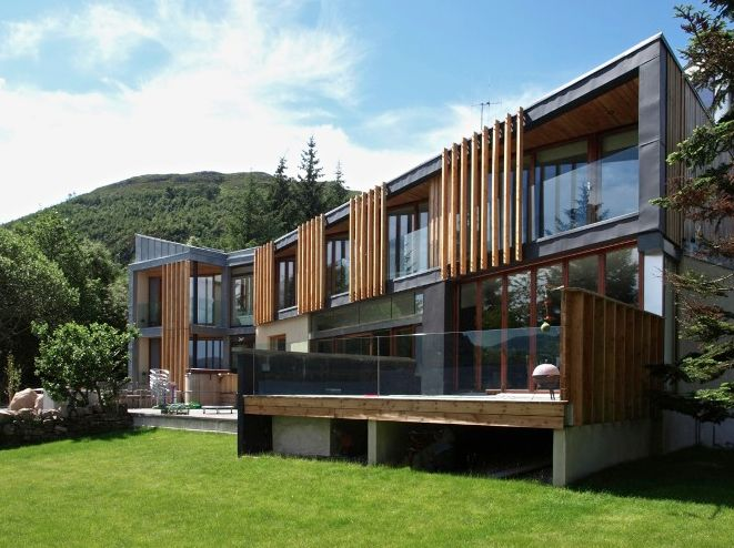 Timber and glass exterior