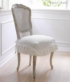 Seat coversRocks Chairs,  Rocker, Rachel Ashwell, Shabby Chic, Dining Chairs, Darcy Chairs, Seats Covers, Chairs Covers, Dining Room Chairs