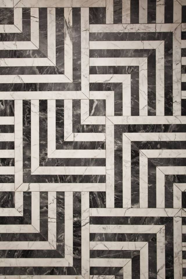 black white tiles from kelly wearstler interior design - Matchstick Tile Home Design