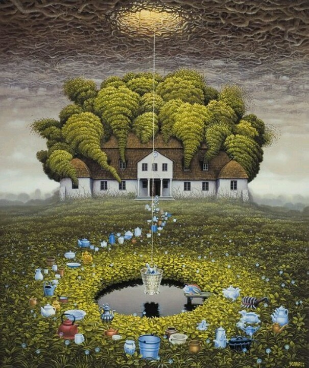 Jacek Yerka /// Seems like this guy went into my dreams and paint them...