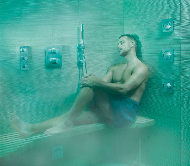 GROHE │Een uniek concept waarmee je je douche verandert in een persoonlijke spa. F-Digital Deluxe zorgt voor sfeerverlichting, ontspannende muziek en zachte stoom dankzij GROHE licht-, geluids- en stoommodules. #badkamer #douche #spa