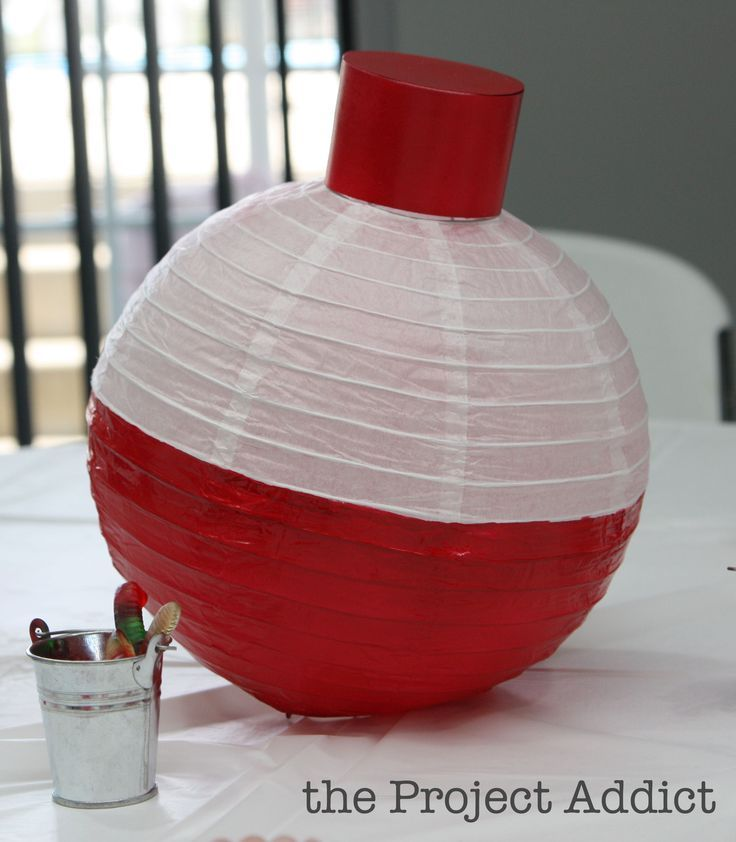 Bobber lanterns. Check the dollar stores. Mask with tape and spray paint. Top is…