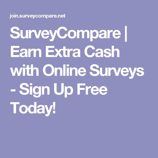 SurveyCompare | Earn Extra Cash with Online Surveys - Sign Up Free Today!