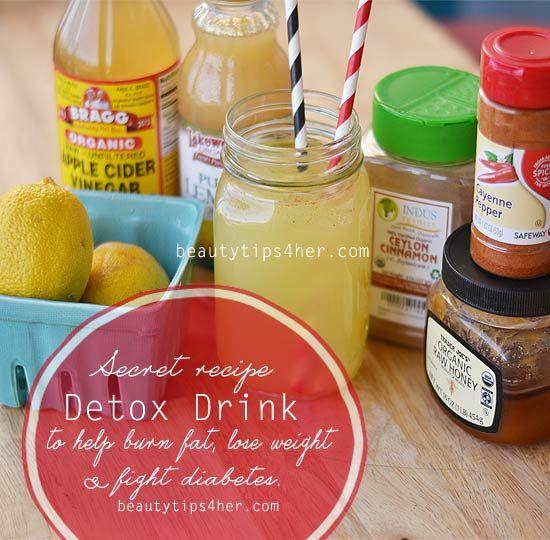 Super Detox Drink Recipe To Help Burn Fat Lose Weight