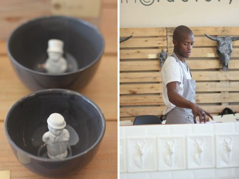 Ceramic Factory in Linden is a great treat - NB leave the kids at home
