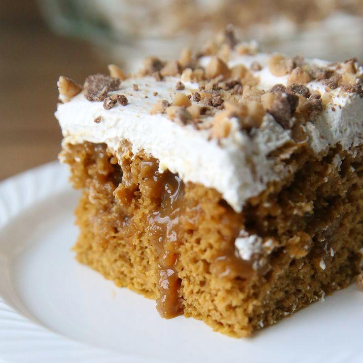 Caramel Pumpkin Poke Cake
