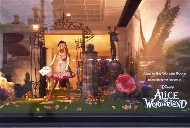 a Alice in Wonderland selfridges window display