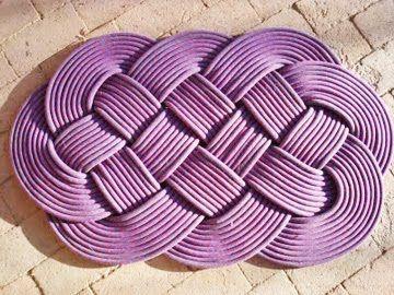 Alfombras hechas a mano con cordón ~ cositasconmesh