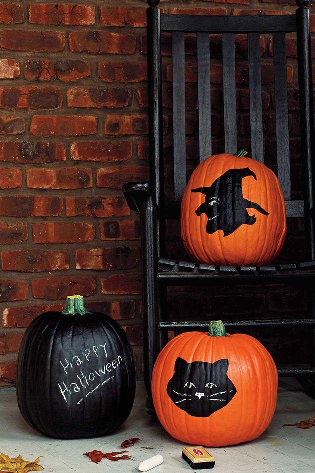 30 Fotos E Ideas Para Decorar Una Calabaza Para Halloween Mil Ideas De Decoración Diseños Para Calabazas De Halloween Calabazas De Halloween Calabazas Talladas