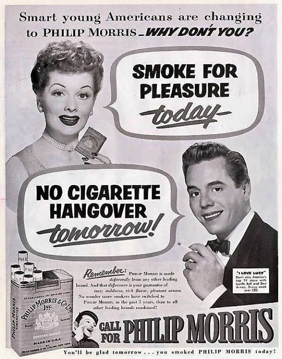 Philip Morris   typical American advertising, but now it's more subliminal..