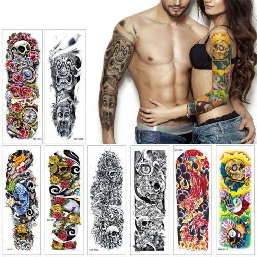Full Arm Temporary Tattoo Sticker Waterproof Fake Sleeve Flash Tattoo Men Woman …