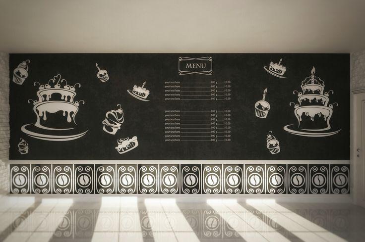 Оформление грифельных стен в Кафе, Барах, ресторанах.