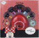 """Minnie Mouse Маникюрный салон с сушкой для ногтей Markwins В наборе: Сушка для ногтей, лак для ногтей (на водной основе) - 5шт, пилочка для ногтей, разделитель для пальцев, наклейки. Для работы сушки необходимо 2 батарейки типа """"АА"""" (в комплект не входят)"""