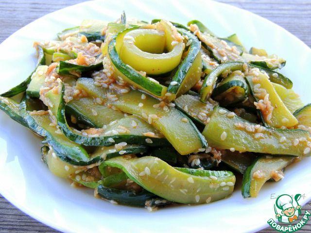 Салат из жареных огурцов по-корейски ингредиенты