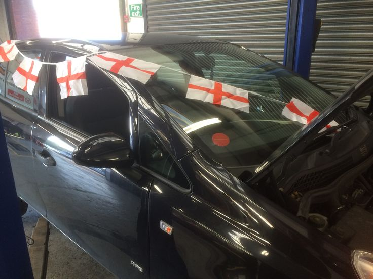 Happy St. George's Day from Oakwell Garages Leyland. Work on a British made best seller, the Vauxhall Corsa.