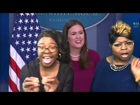 09-01-2017 Diamond and Silk Monitors The White House Press Briefing With Sarah Huckabee Sanders - YouTube