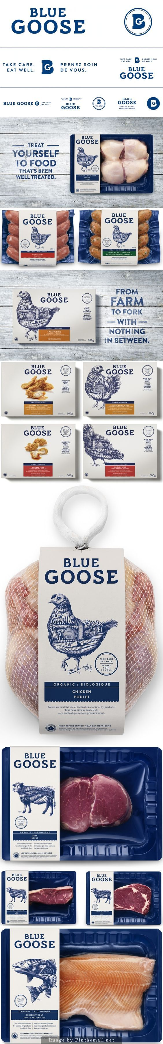 Blue Goose Pure Foods designed by Sid Lee #packaging #design: