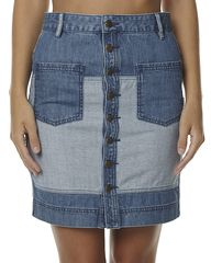 ELEMENT HUTTON WOMENS DENIM SKIRT - DENIM