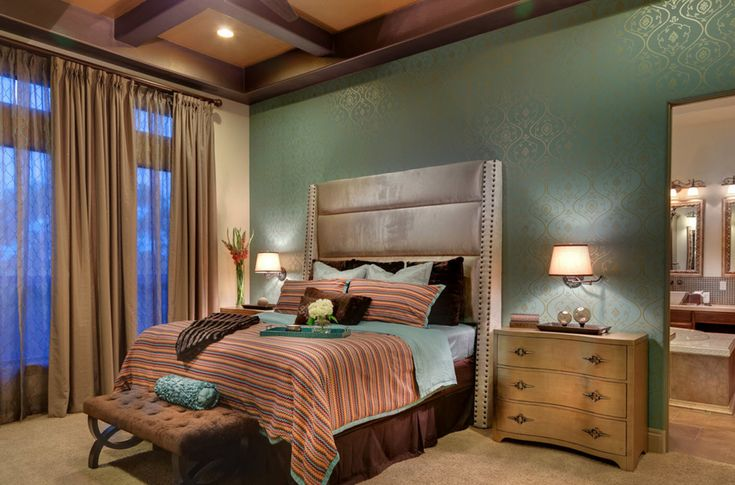 Спальня с Обоями двух Цветов: 210+[Фото] Лучшие Идеи ...