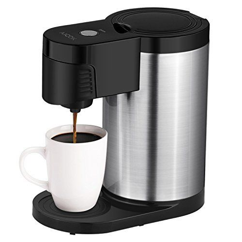 #7: Aicok Single Serve Coffee Maker K Cup Brewer Stainless Steel easy to wash and Travel/Stylish Black This is rated as one of the top selling products online in Kitchen  category in USA. Click below to see its Availability and Price in YOUR country.