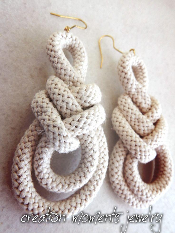 rope earrings knot!