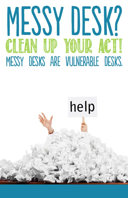 Clean Desk Policy Template 21 Best Clean Desk Campaign Images On Pinterest Clean Desk Clear Desk And Desk Tidy