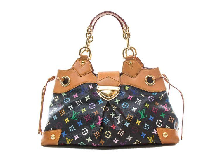 Authentic Louis Vuitton Multi-color Black Ursula bag