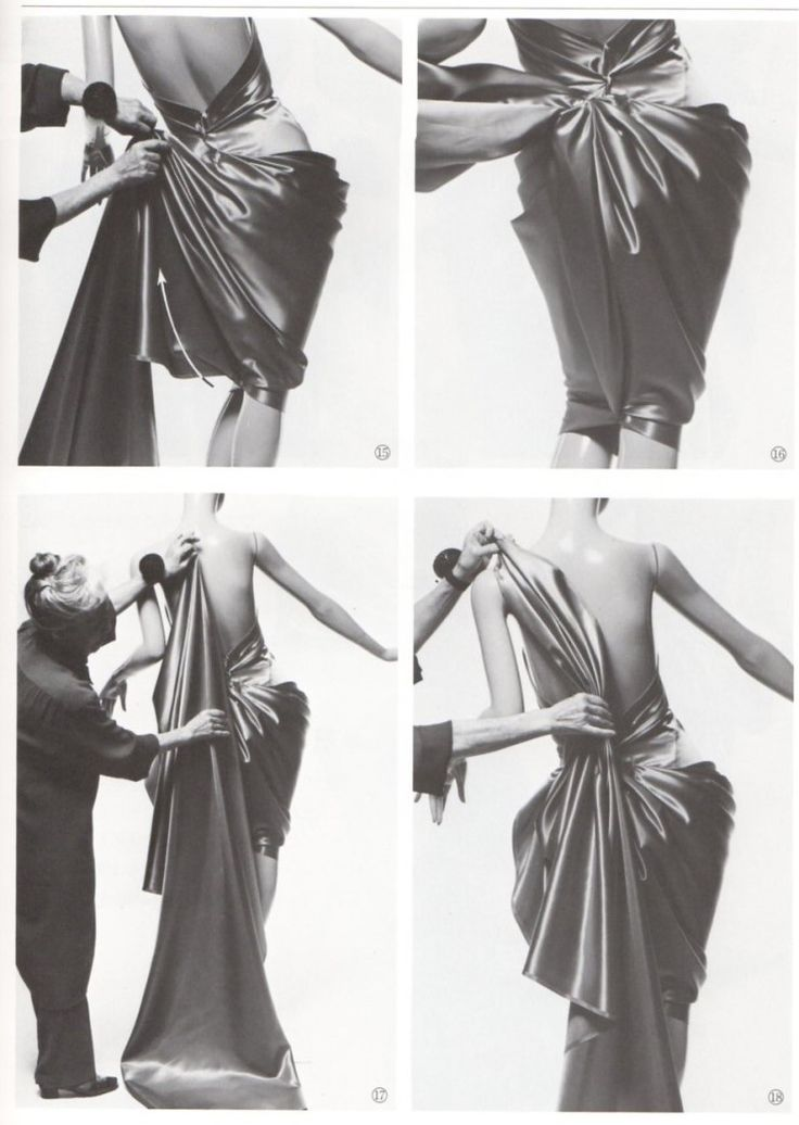 548 Best Draping Images On Pinterest Fabric Manipulation