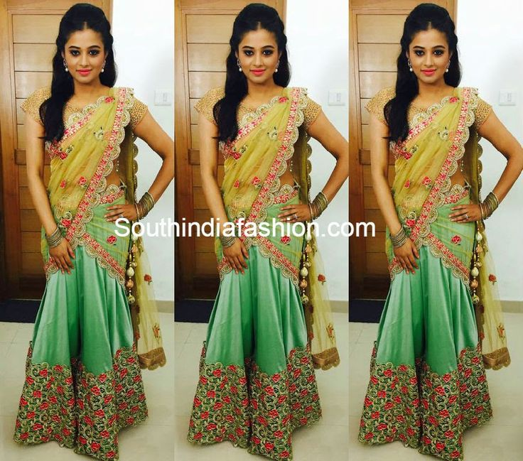 Like the embroidery and the skirt!Priyamani in Pranaah Half Saree