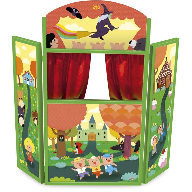 Théâtre de marionnettes en triptyque pour enfant Multicolore - Théâtre - Jeux d'imitation - Les jeux et jouets - Univers des enfants - Décoration d'intérieur - Alinéa