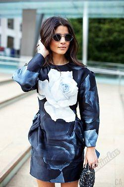 #moda #fashion #streetstyle #sokaktarzı #mavi  Lacivert Ve Mavi Sokak Stilleri