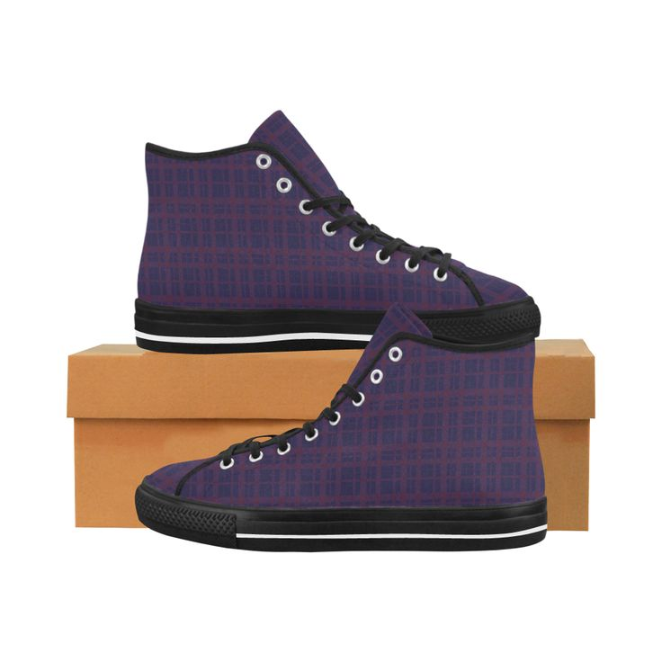 Purple Plaid Rock Style Vancouver H Men's Canvas Shoes by Scar Design. #shoes #style #fashion #sneakers #art #online #shopping #39 #geometric #family #giftsforhim #giftsforher #womensshoew #mensshoes #kidsshoes #boots #scardesign #artsadd #cheapshoes #gothic #skull #plaid #plaidshoes #gifts #pattern #dots #pop #popart #popculture #purple #rock #rockstyle #punk #music