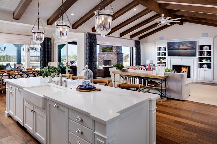 Back Wall Idea Patio Tracy Lynn Studios Open Concept Kitchen Living Room Dream House Ideas Kitchens Open Floor Plan Kitchen House design with open concept