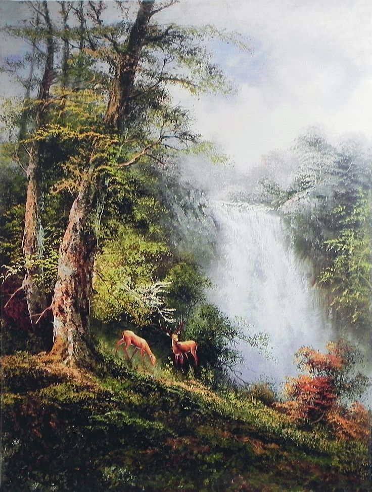 The Beauty of Waterfall (Reprint on Paper - Unframed)