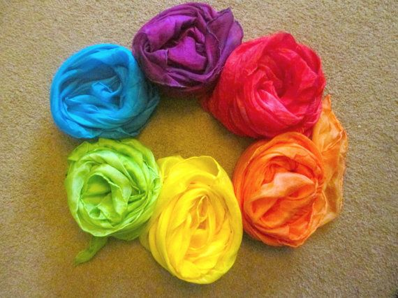 These large 90cm by 90cm play silks are a beautiful decoration, or perfect for…