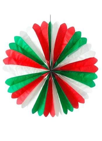 Papierrosette 60 cm Ø Italien, italienische Flagge