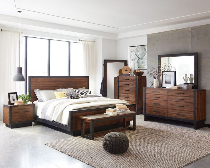 Inspirational Scott Living Ellison Rustic Modern Industrial Acacia Bedroom Set Top Search - Cool coaster bedroom furniture New Design