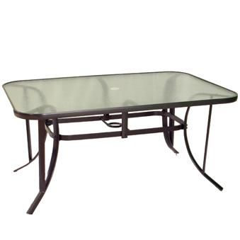 table glass replacement bradford aluminum 38 x 60 dining table
