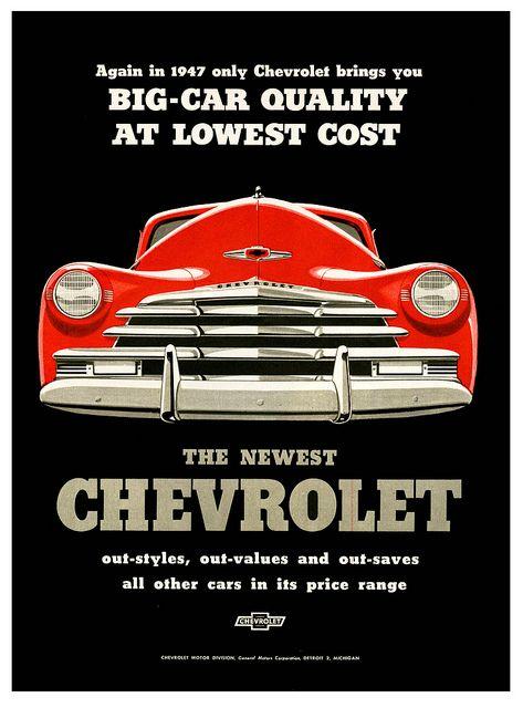 Vintage advertisement for Chevrolet - 1947